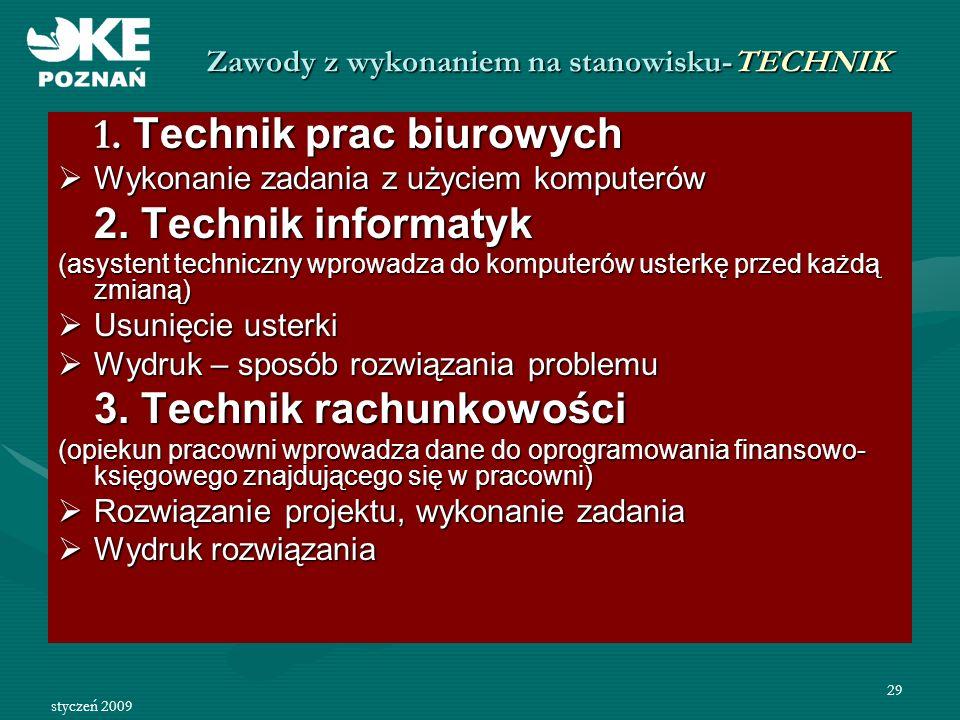 Zawody z wykonaniem na stanowisku-TECHNIK