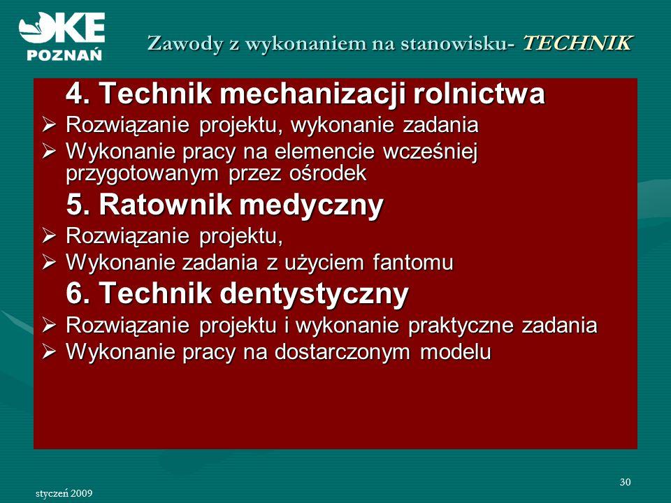 Zawody z wykonaniem na stanowisku- TECHNIK