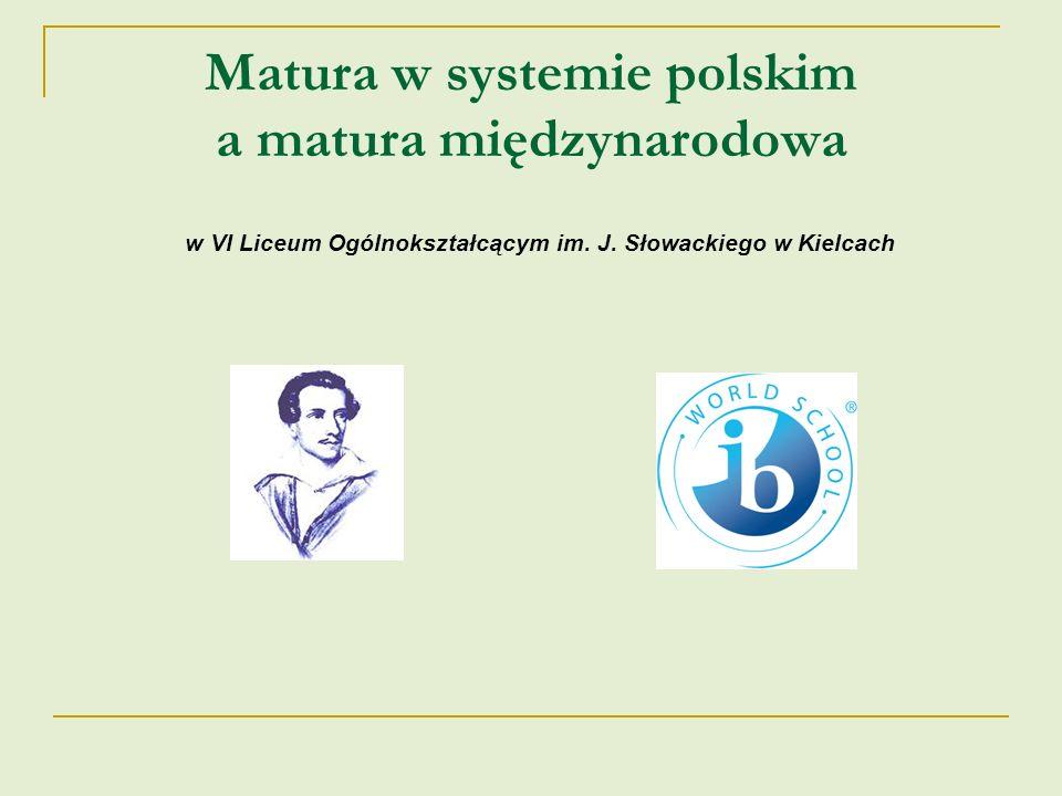 Matura w systemie polskim a matura międzynarodowa