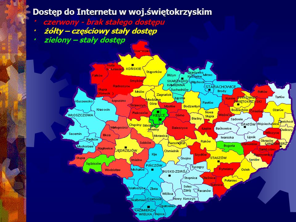 Dostęp do Internetu w woj