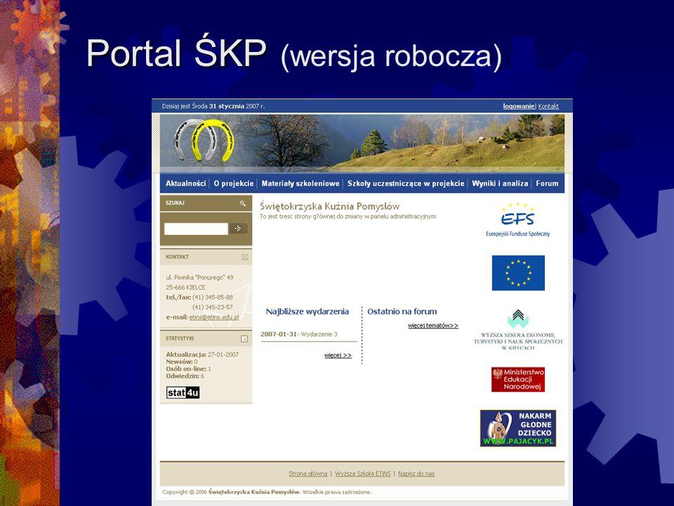 Portal ŚKP (wersja robocza)