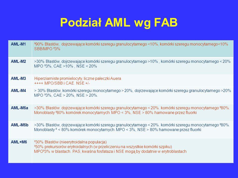 Podział AML wg FAB AML-M1
