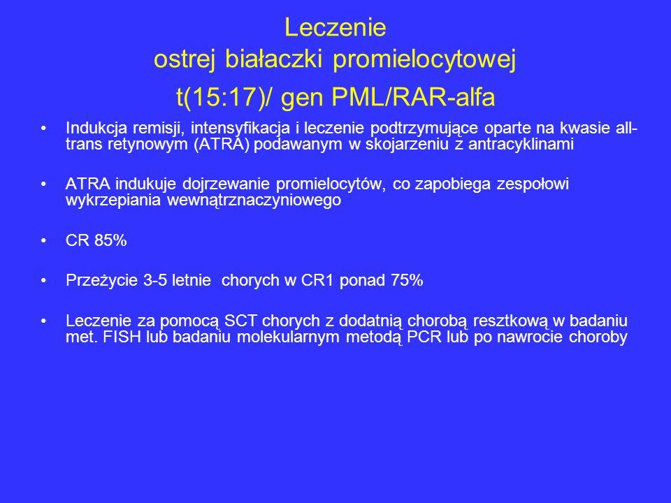 Leczenie ostrej białaczki promielocytowej t(15:17)/ gen PML/RAR-alfa