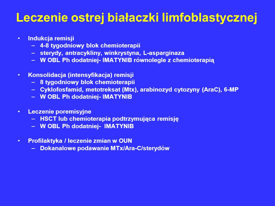 Leczenie ostrej białaczki limfoblastycznej
