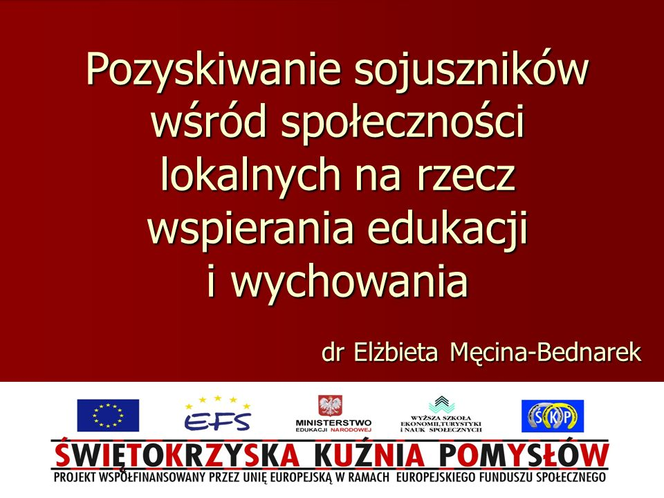 dr Elżbieta Męcina-Bednarek