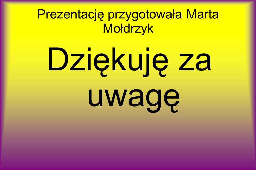 Prezentację przygotowała Marta Mołdrzyk