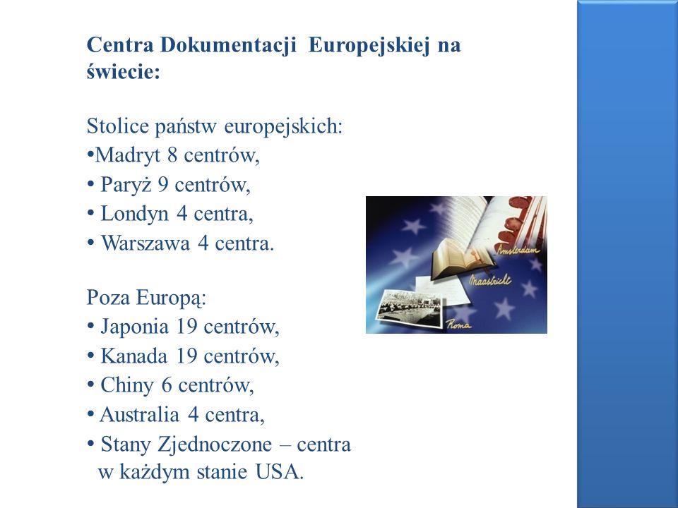 Centra Dokumentacji Europejskiej na świecie: