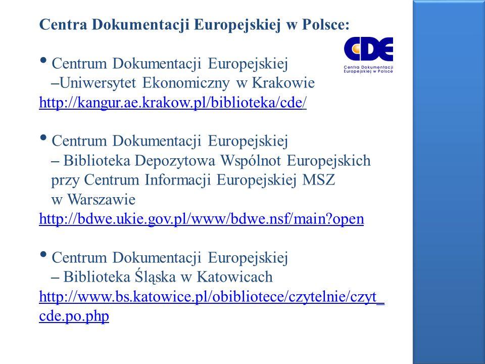 Centra Dokumentacji Europejskiej w Polsce: