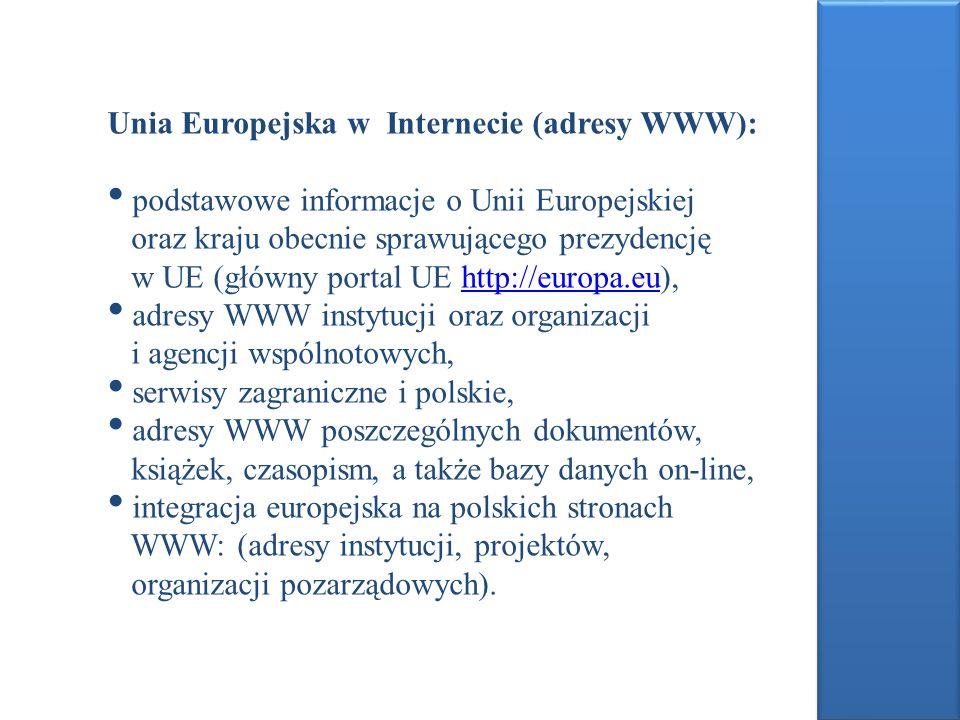 Unia Europejska w Internecie (adresy WWW):