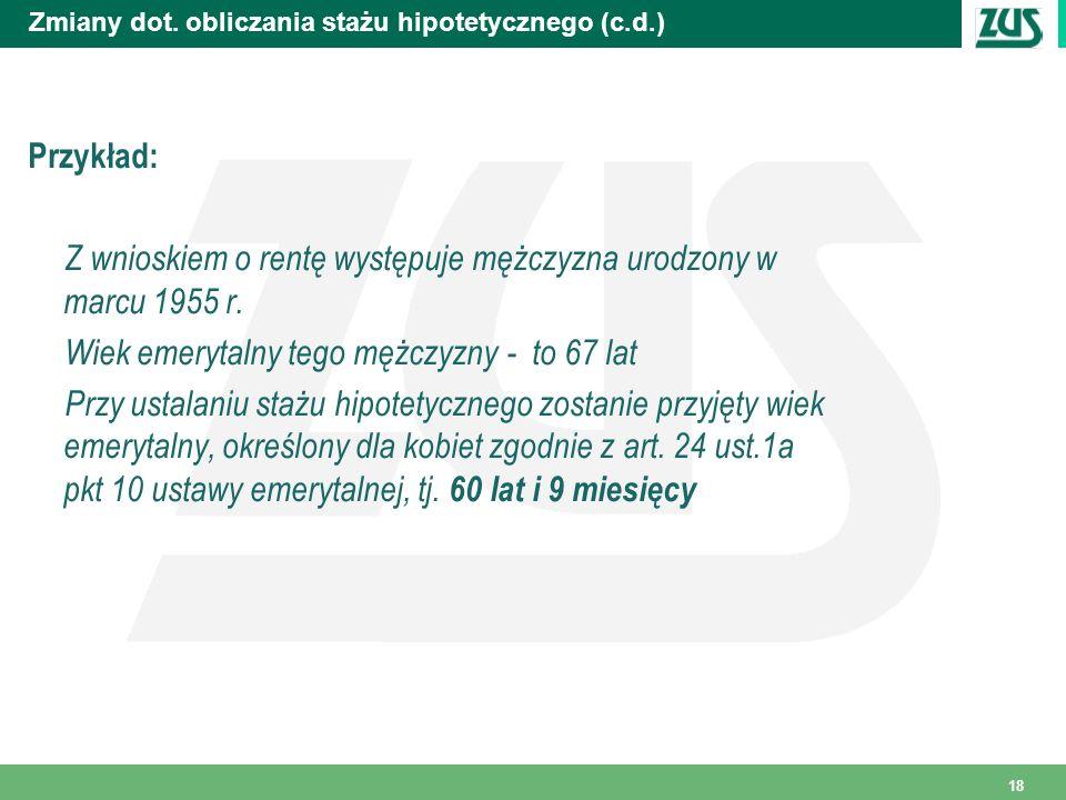 Zmiany dot. obliczania stażu hipotetycznego (c.d.)
