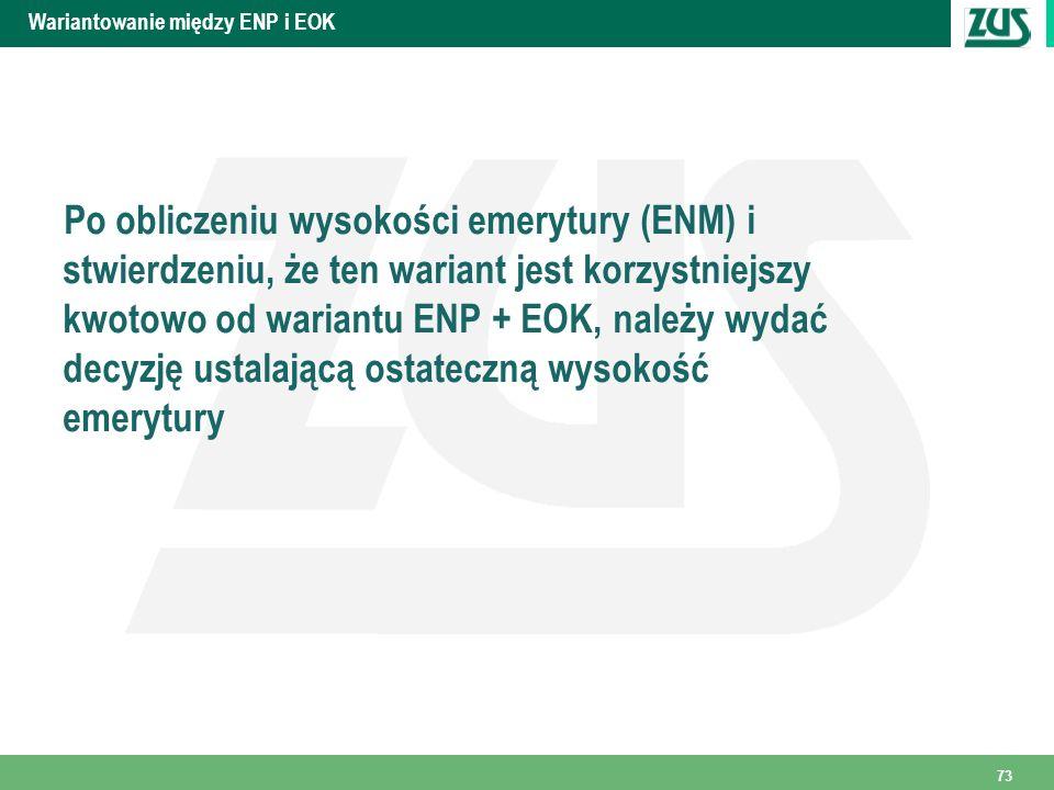Wariantowanie między ENP i EOK