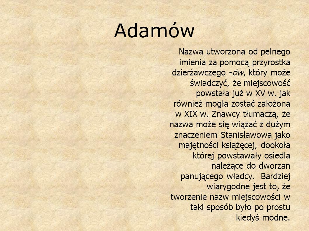 Adamów