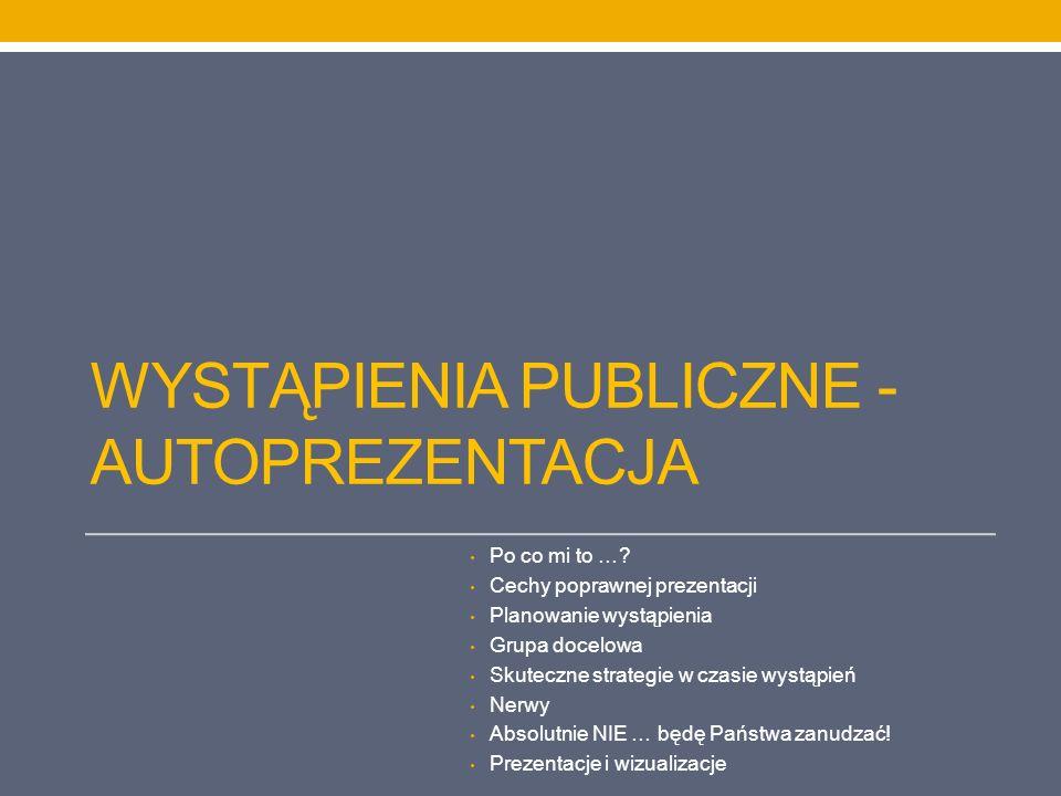 Wystąpienia publiczne - autoprezentacja