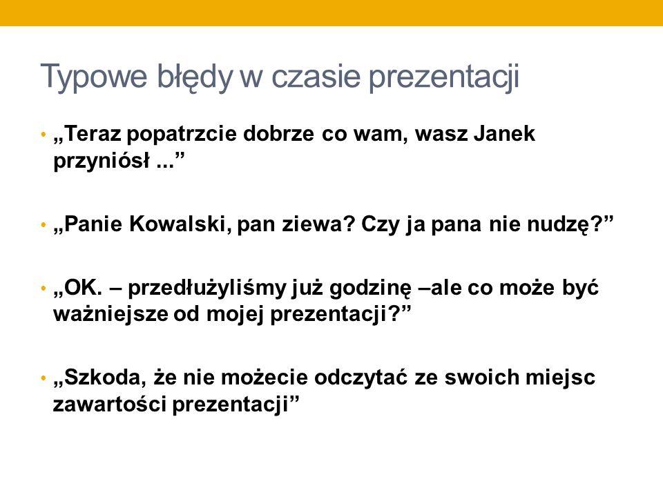 Typowe błędy w czasie prezentacji