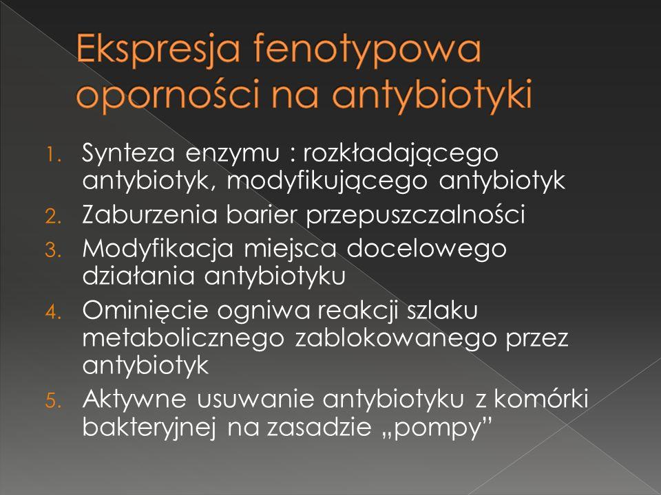 Ekspresja fenotypowa oporności na antybiotyki