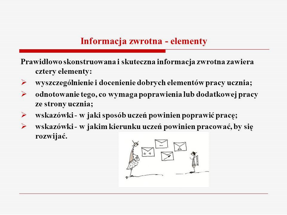 Informacja zwrotna - elementy