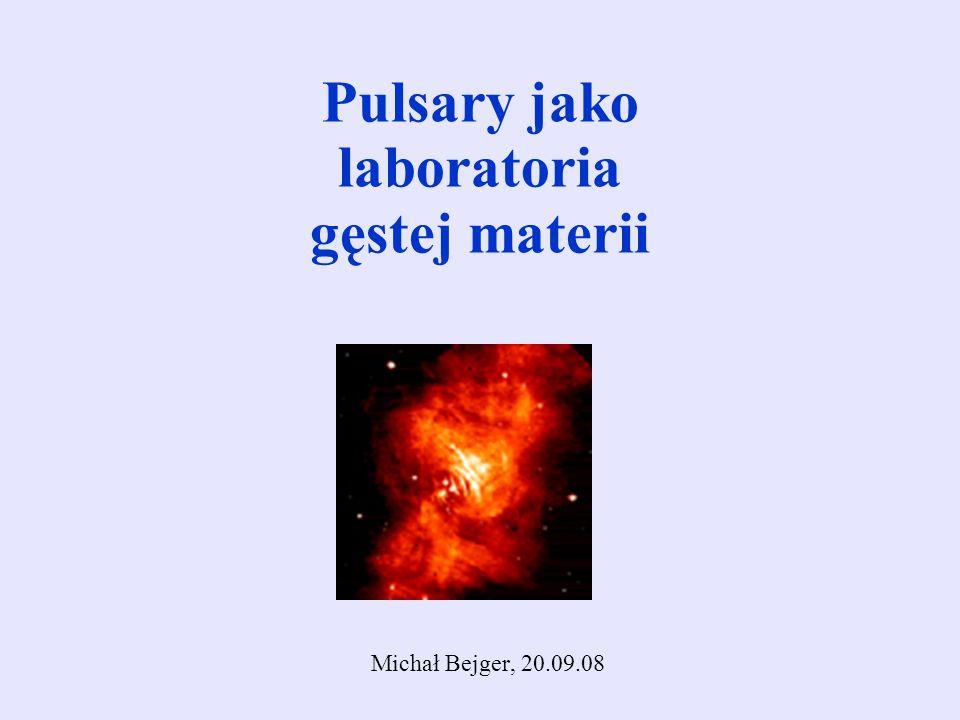 Pulsary jako laboratoria gęstej materii