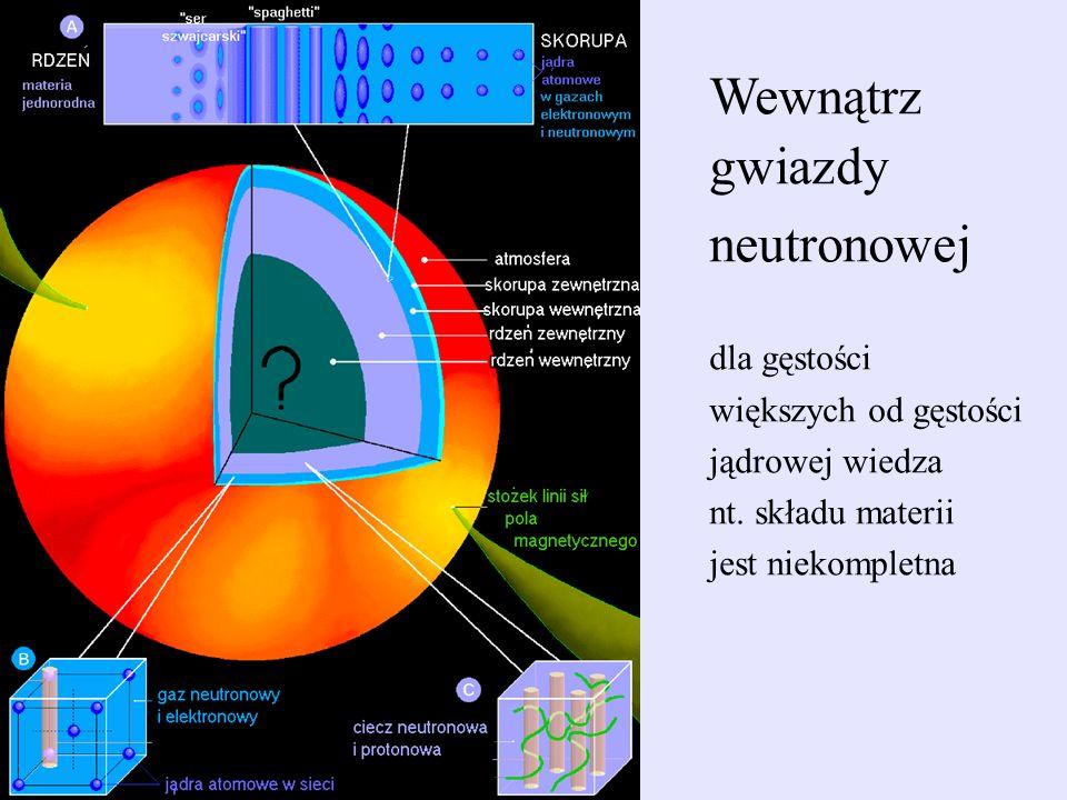 Wewnątrz gwiazdy neutronowej dla gęstości większych od gęstości
