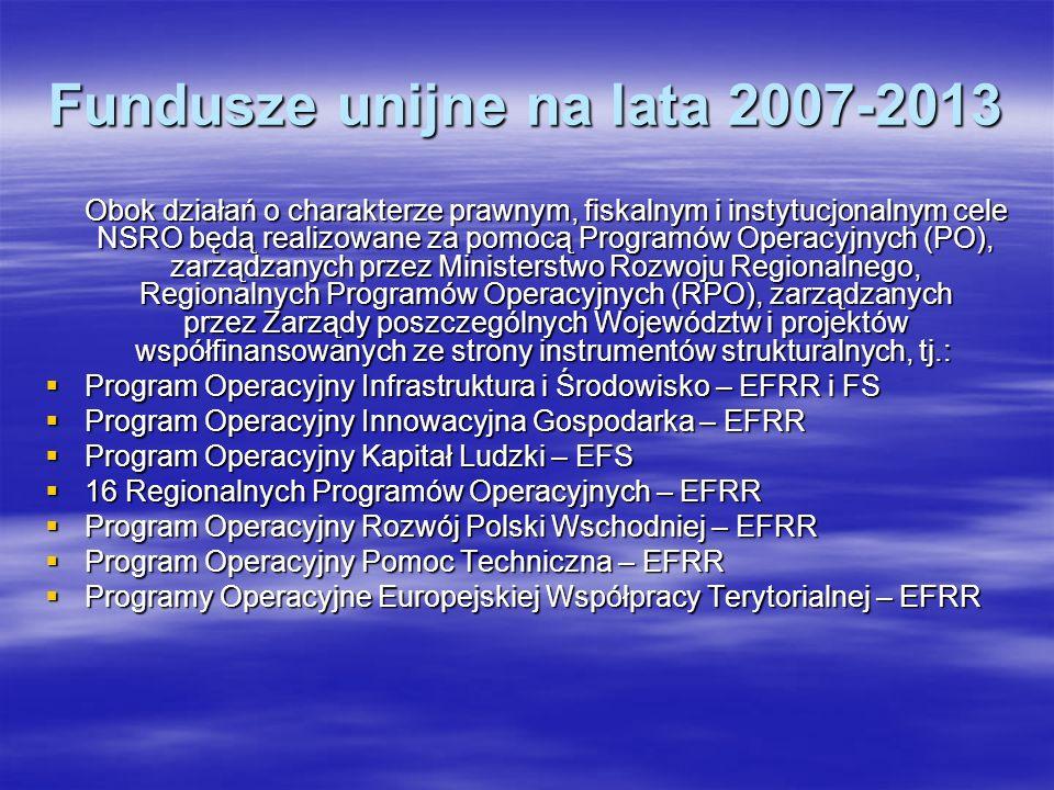 Fundusze unijne na lata 2007-2013
