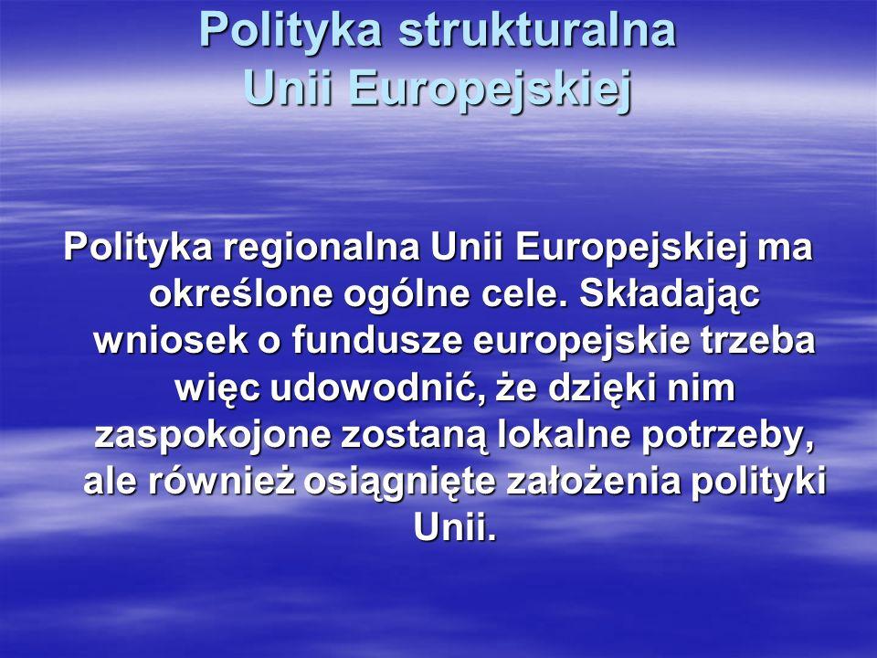 Polityka strukturalna Unii Europejskiej