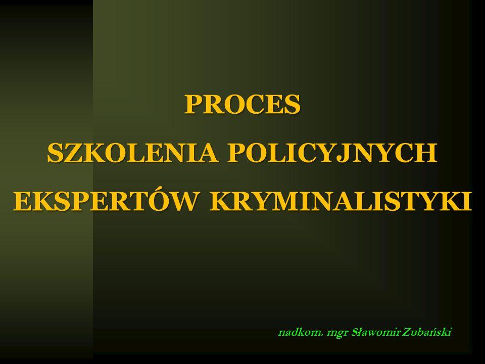 PROCES SZKOLENIA POLICYJNYCH EKSPERTÓW KRYMINALISTYKI