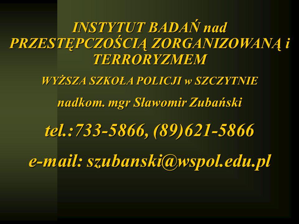 tel.:733-5866, (89)621-5866 e-mail: szubanski@wspol.edu.pl