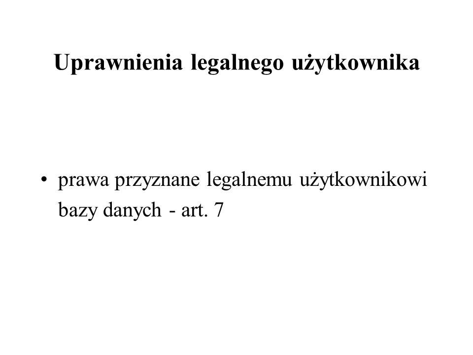Uprawnienia legalnego użytkownika