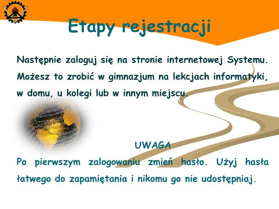 Etapy rejestracji