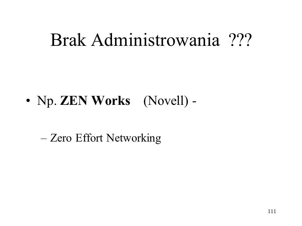 Brak Administrowania Np. ZEN Works (Novell) -