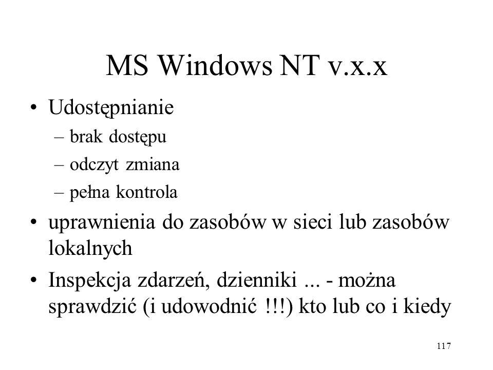 MS Windows NT v.x.x Udostępnianie
