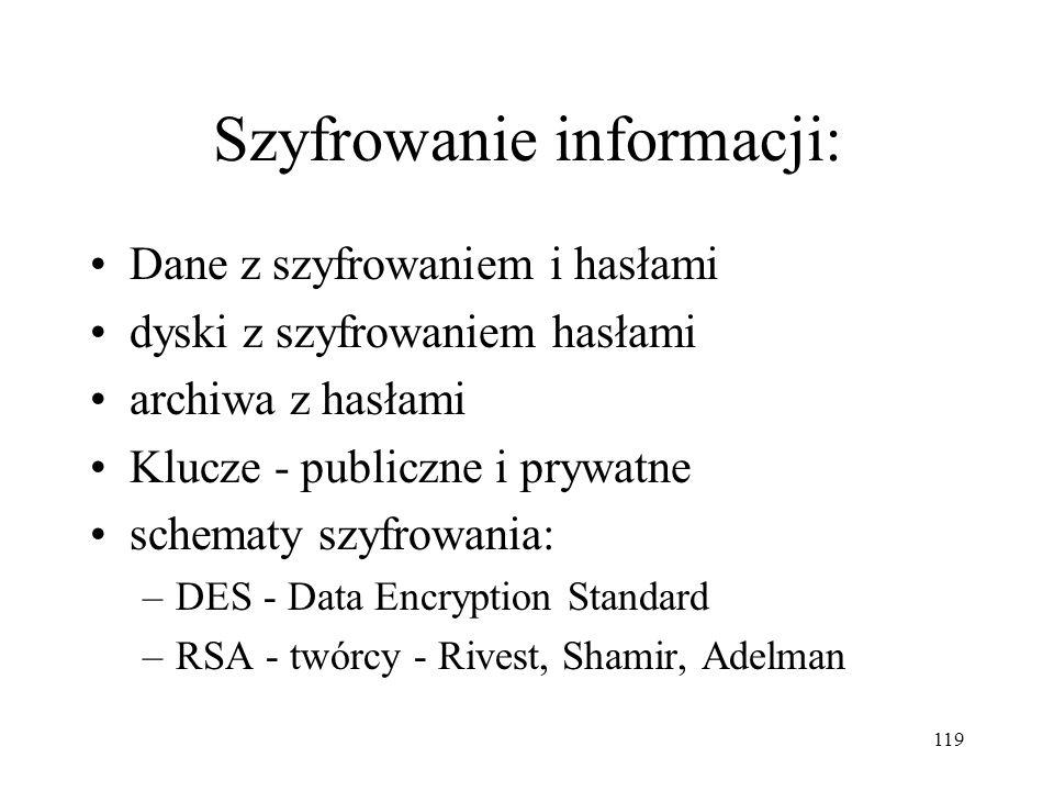 Szyfrowanie informacji: