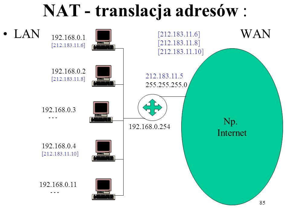 NAT - translacja adresów :