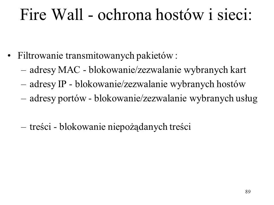 Fire Wall - ochrona hostów i sieci: