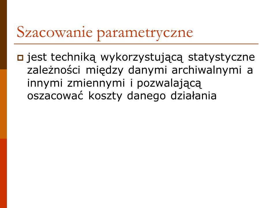 Szacowanie parametryczne