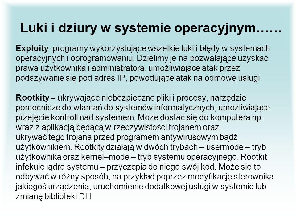 Luki i dziury w systemie operacyjnym……