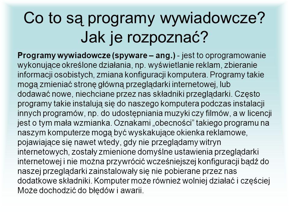Co to są programy wywiadowcze Jak je rozpoznać