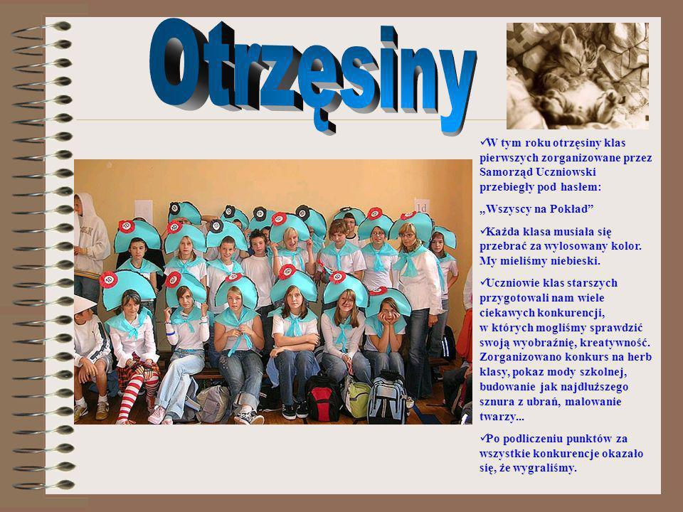 Otrzęsiny W tym roku otrzęsiny klas pierwszych zorganizowane przez Samorząd Uczniowski przebiegły pod hasłem: