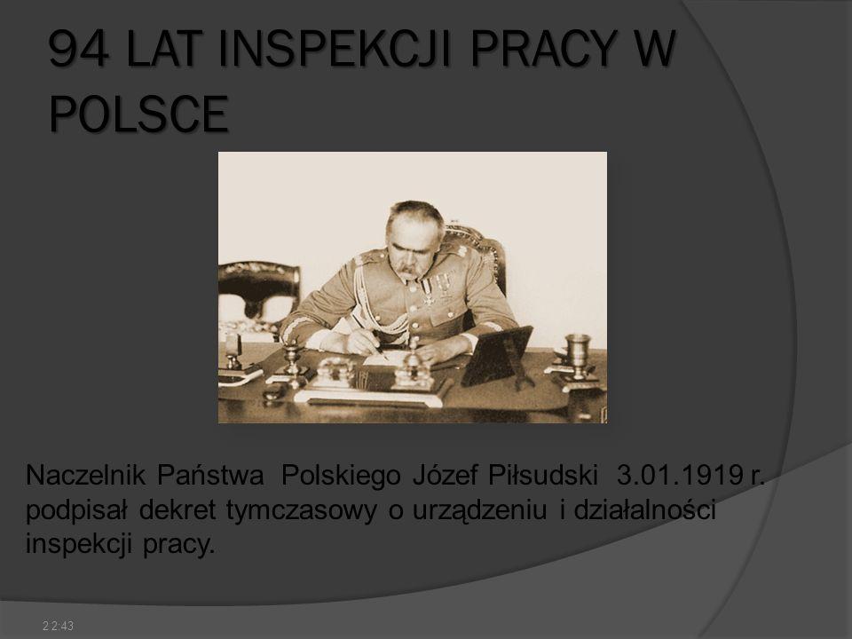 94 LAT INSPEKCJI PRACY W POLSCE