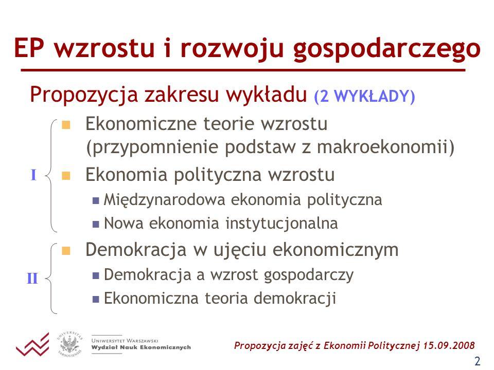 EP wzrostu i rozwoju gospodarczego