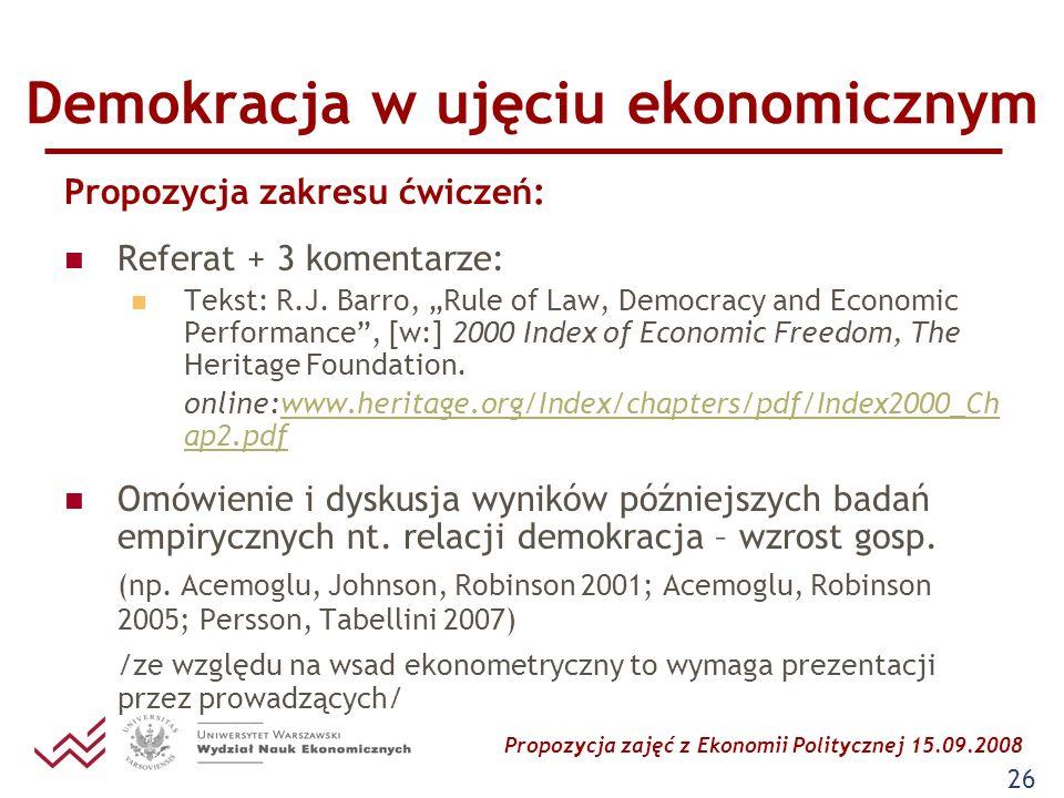 Demokracja w ujęciu ekonomicznym