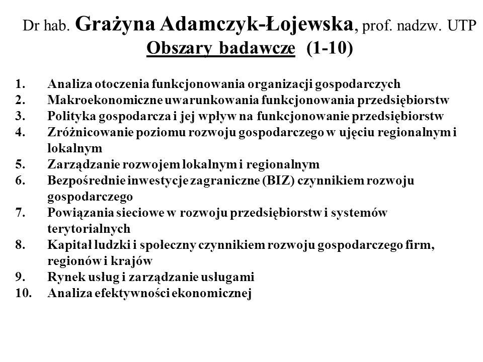 Dr hab. Grażyna Adamczyk-Łojewska, prof. nadzw