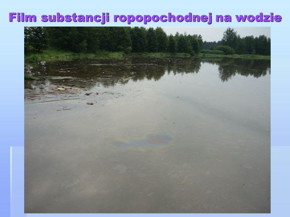 Film substancji ropopochodnej na wodzie