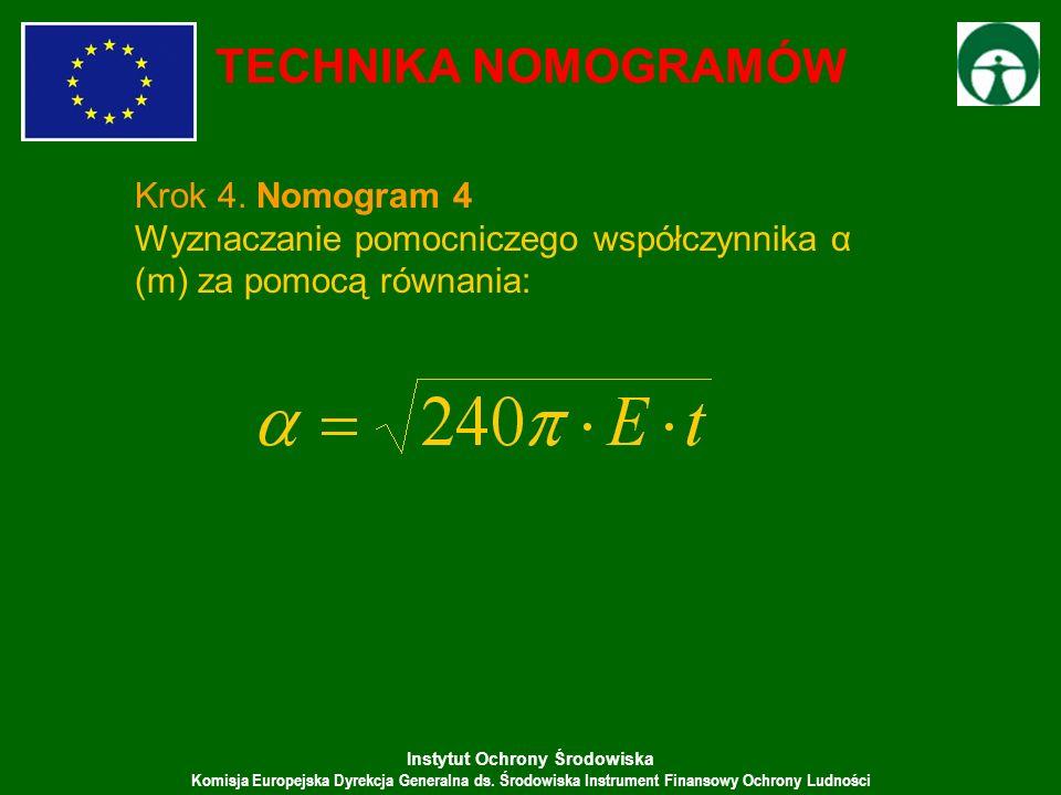 TECHNIKA NOMOGRAMÓW Krok 4. Nomogram 4