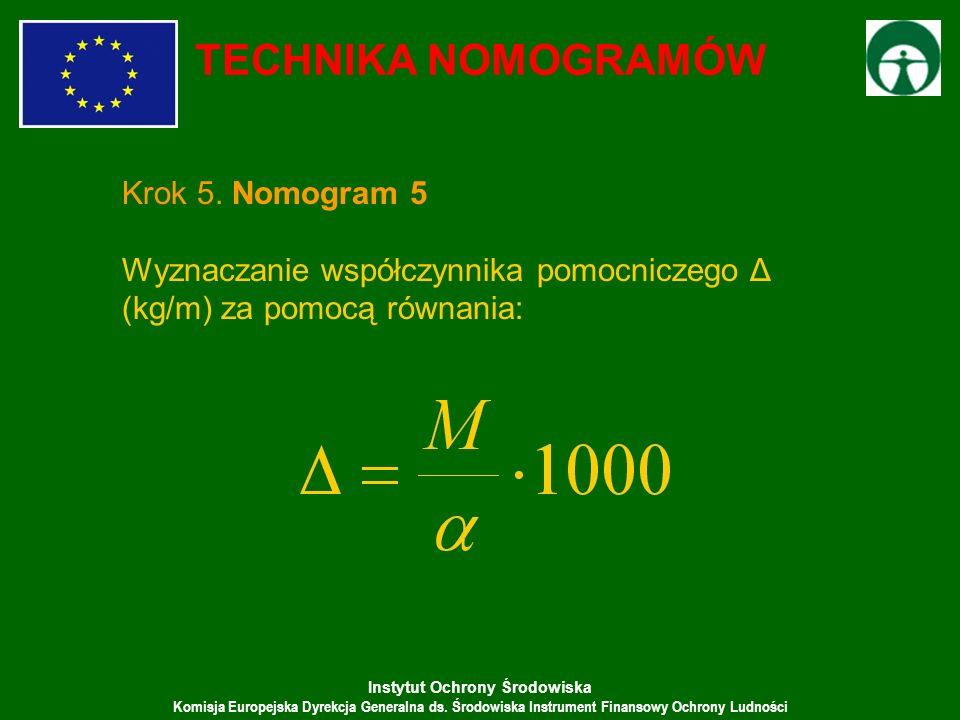 TECHNIKA NOMOGRAMÓW Krok 5. Nomogram 5