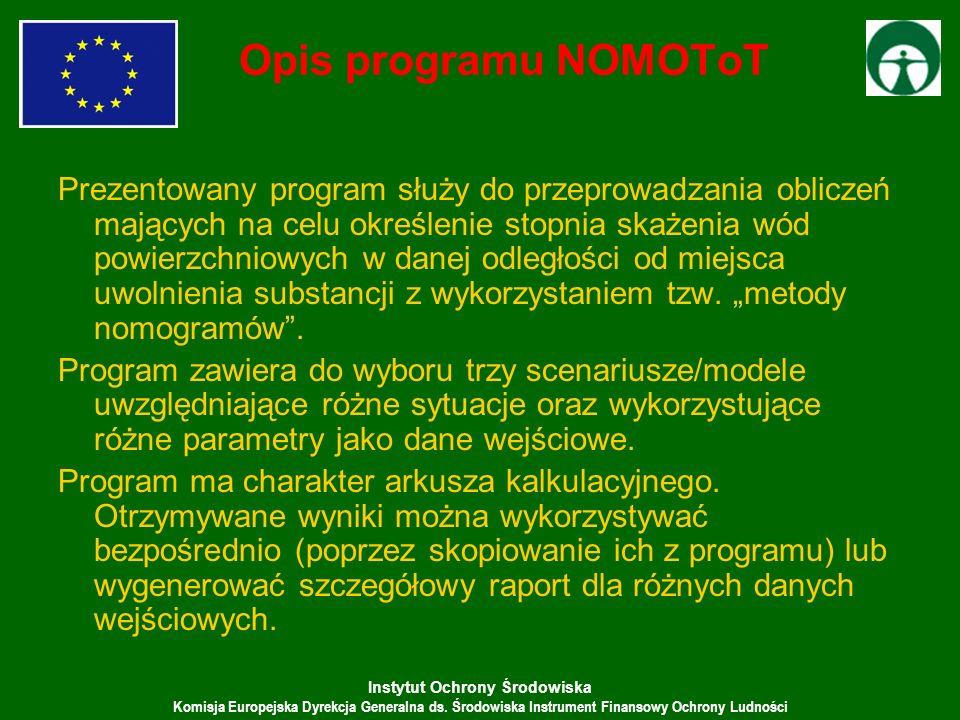 Opis programu NOMOToT