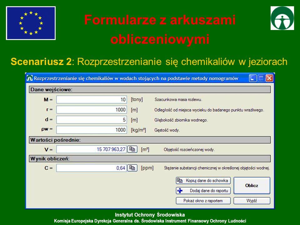 Formularze z arkuszami obliczeniowymi