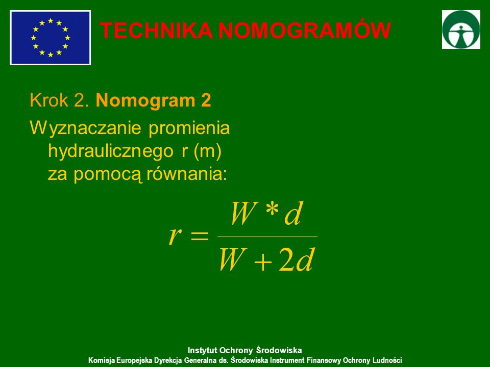 TECHNIKA NOMOGRAMÓW Krok 2. Nomogram 2