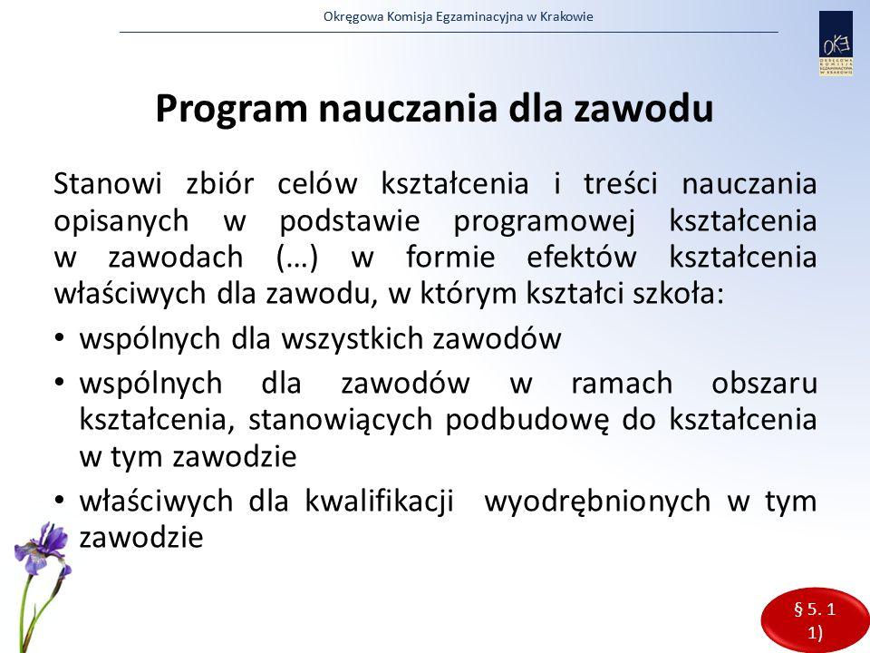 Program nauczania dla zawodu