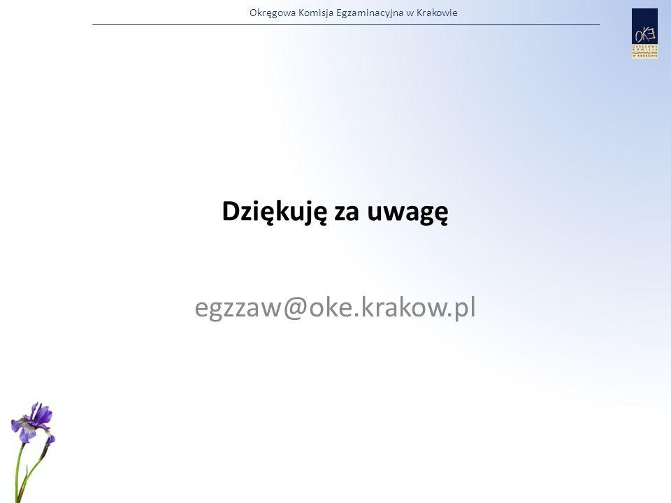 Dziękuję za uwagę egzzaw@oke.krakow.pl