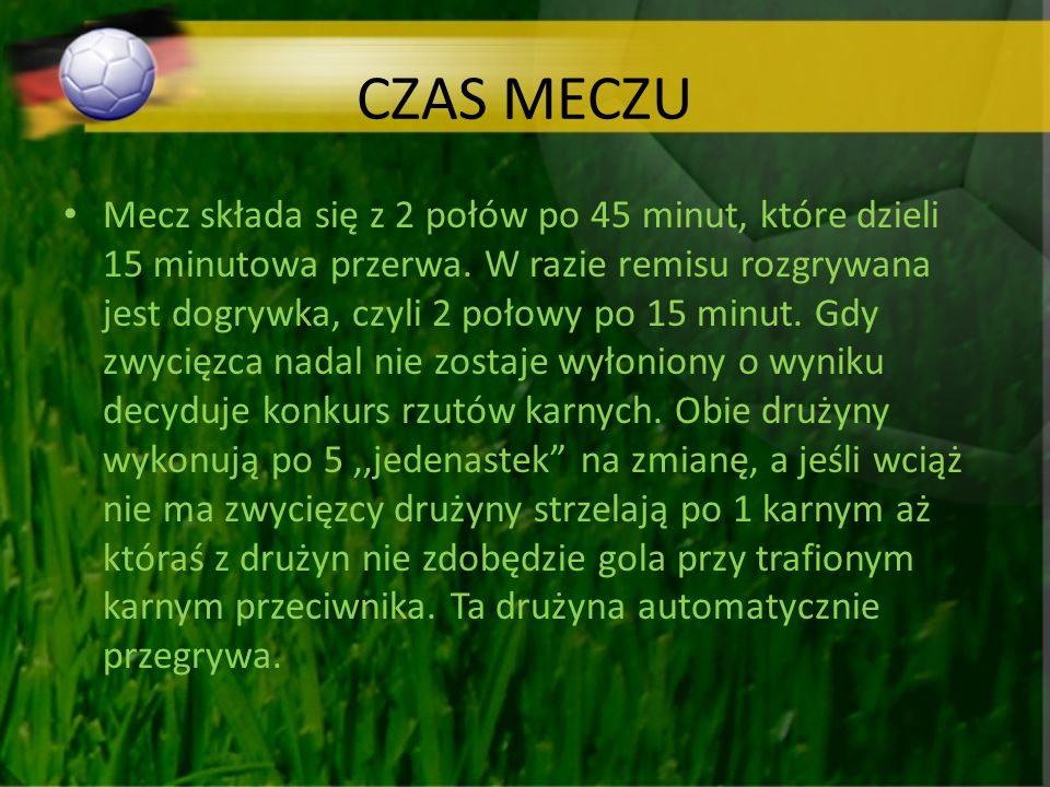 CZAS MECZU